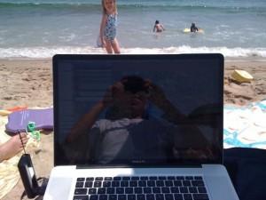Ichiro Laptop Beach 2009